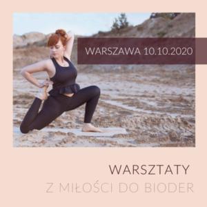 """Warsztat stacjonarny """"Z miłości do bioder"""" 10 października"""